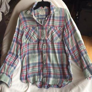 Ralph Lauren Cotton Linen Blend Shirt New